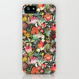 Floral maximalism iPhone Case