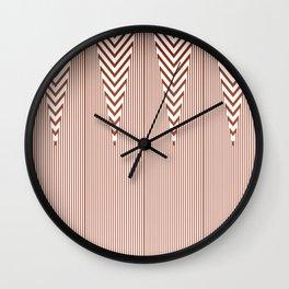 Art Deco Geometric Arrowhead Dusty Peach Design Wall Clock