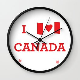 I heart Canada Wall Clock