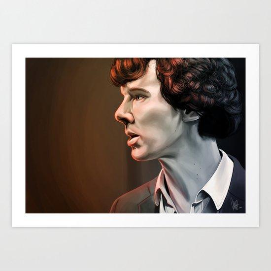 Is it nice not being me - Sherlock Art Print