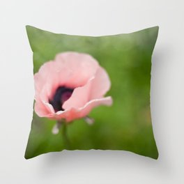 Peachy poppy Throw Pillow