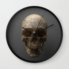 Golden Skull Triangles 1 Wall Clock