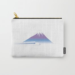 Mt.Fuji and Bullet train in Japan Carry-All Pouch