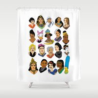 women Shower Curtains featuring Women by Anette Moi