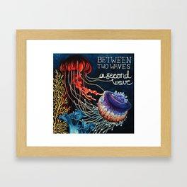 Between Two Waves Framed Art Print