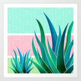 Palm Springs Mood ~ Midcentury Succulents Art Print