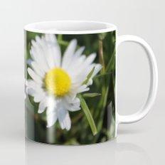 wild white daisy flowers. floral photography. Mug