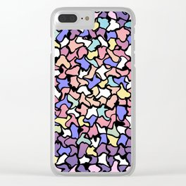Wobbly Pastel Tone Tiles Clear iPhone Case