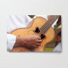 Typical Azores guitar Metal Print