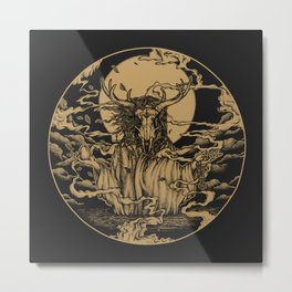 DREAMTIME - GOLD Metal Print