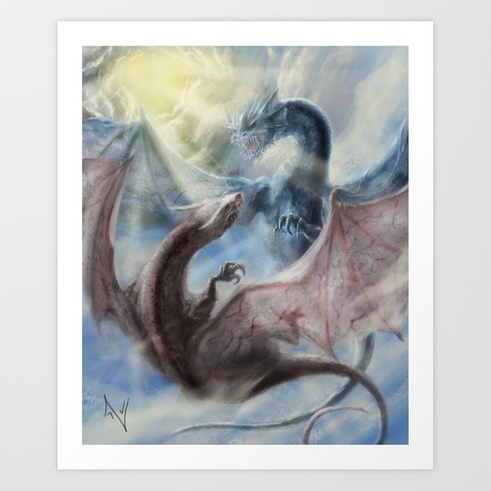Sky Battle Art Print