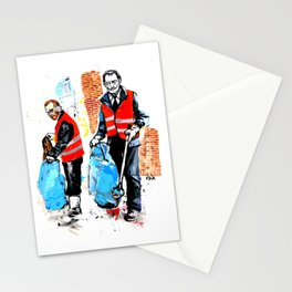 Trash Collectors Stationery Cards