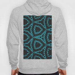 Black and Turquoise Batik Goth Print Hoody