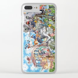 Ghibli Compilation Clear iPhone Case