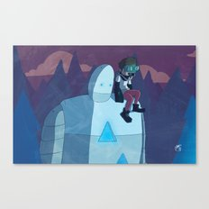 Robokid in the Forest Canvas Print