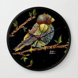 Positivity Bird 3 Wall Clock