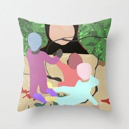 Forest Miro Throw Pillow