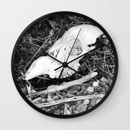 The skull on the Loch Wall Clock