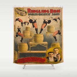 Vintage poster - Circus Acrobats Shower Curtain