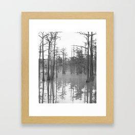Adams Mill Pond Panorama 07 B&W Framed Art Print