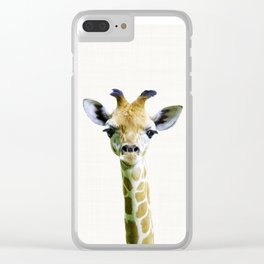 Giraffe print,Nursery decor, Nursery wall art,animal nursery prints,nursery animal print,baby animal Clear iPhone Case