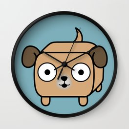 Pitbull Loaf - Fawn Pit Bull with Floppy Ears Wall Clock
