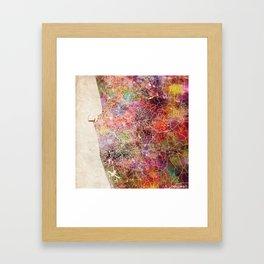 Colombo map Framed Art Print
