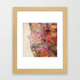 Colombo map Framed Art Print