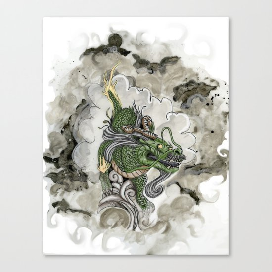 Dragon of The Mist Canvas Print