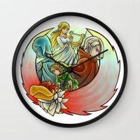sword Wall Clocks featuring Skyward Sword  by Stanglass