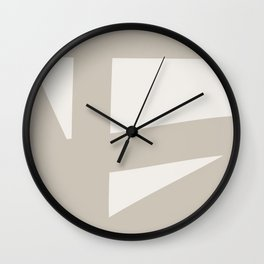 Neutral Abstract 3A Wall Clock