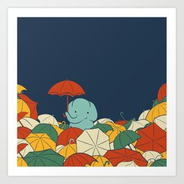 Umbrellaphant Art Print