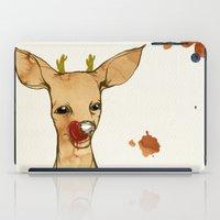 reindeer iPad Cases featuring REINDEER by auntikatar