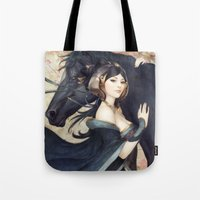 mad Tote Bags featuring Pepper Empress by Artgerm™