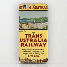 Vintage poster - Western Australia iPhone Skin