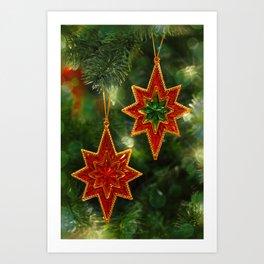 The Christmas Stars Art Print