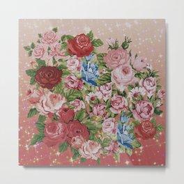 Roses Collage Metal Print