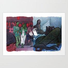 Story & Her Art Print