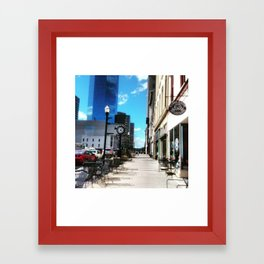 Spring Day In Downtown Lexington, Ky Framed Art Print