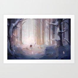 WANDER - Merry Winter Art Print