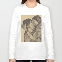 lovers Long Sleeve T-shirts featuring Lovers by Paxelart