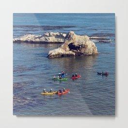 Kayakers Metal Print