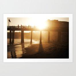 Ventura Beach - Sunset Art Print