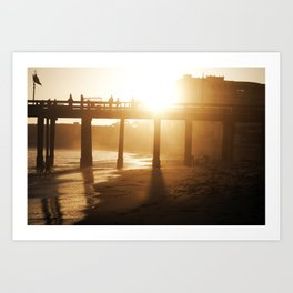 Ventura Beach - Sunset Art Print
