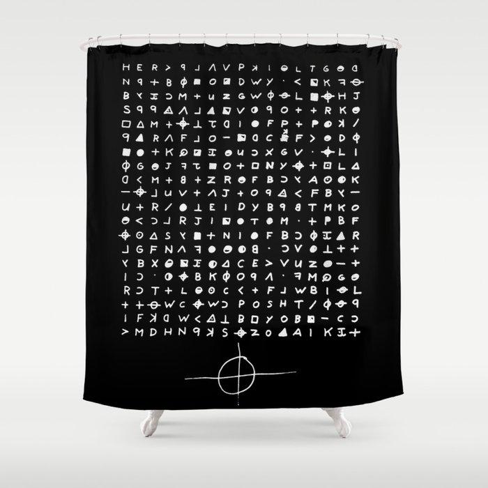 Zodiac killer Shower Curtain