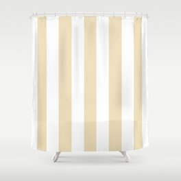 Dutch white pink - solid color - white vertical lines pattern Shower Curtain