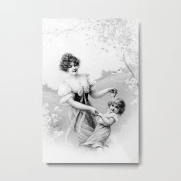 Mother and Child Metal Print