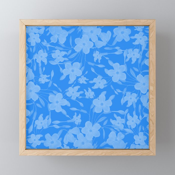 Forget-Me-Not Flowers in Blue Framed Mini Art Print