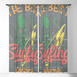 The Best Surfing - California Sheer Curtain