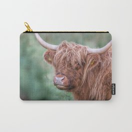 Scottish cow close up Carry-All Pouch